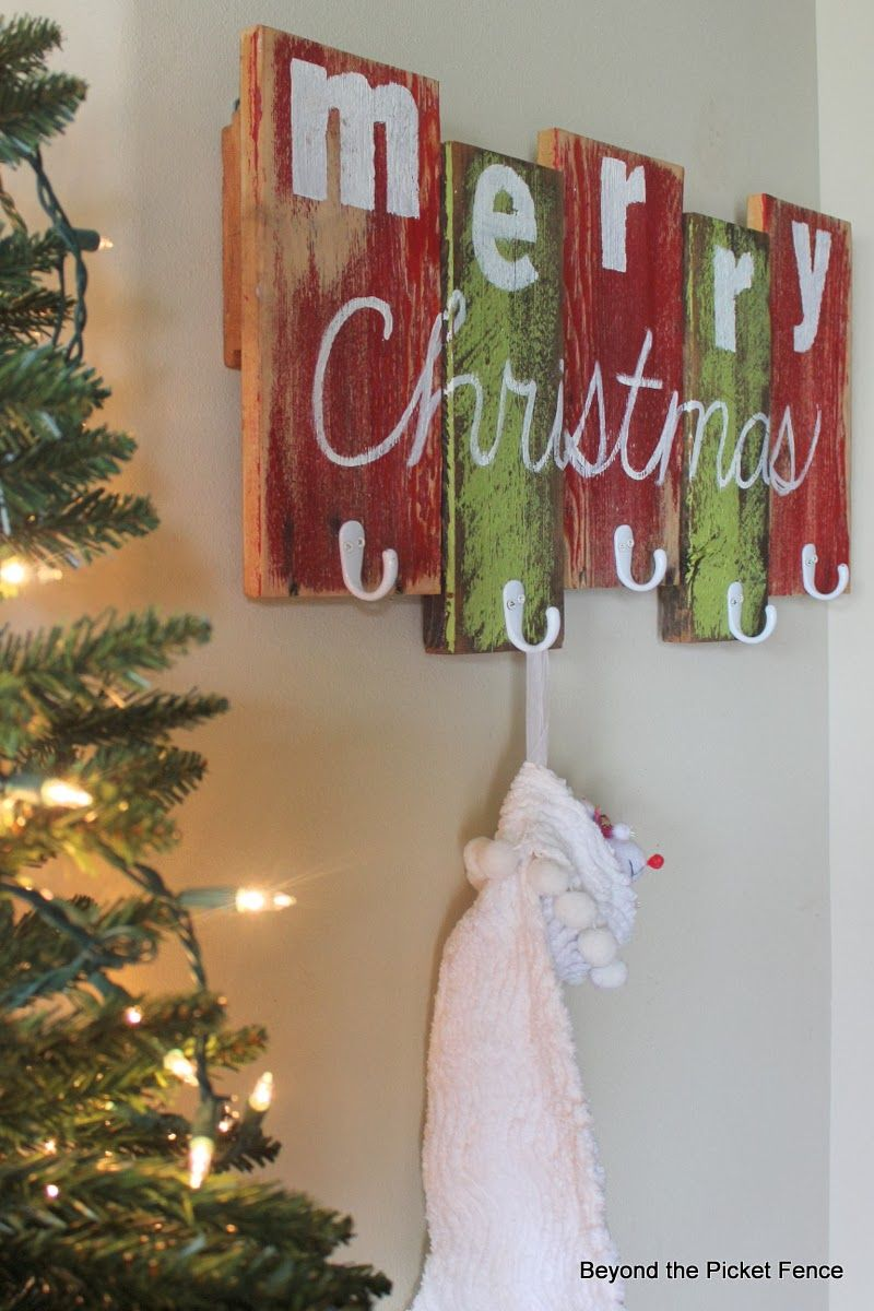 Merry Christmas Coat Rack