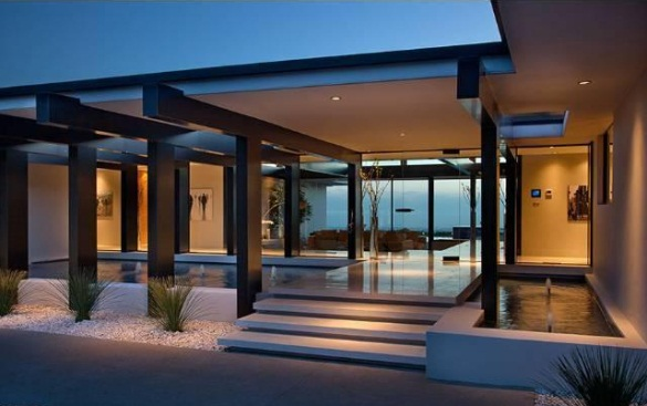 steel home designs. View in gallery Vera Wang s modern glass and steel home Beverly Hills