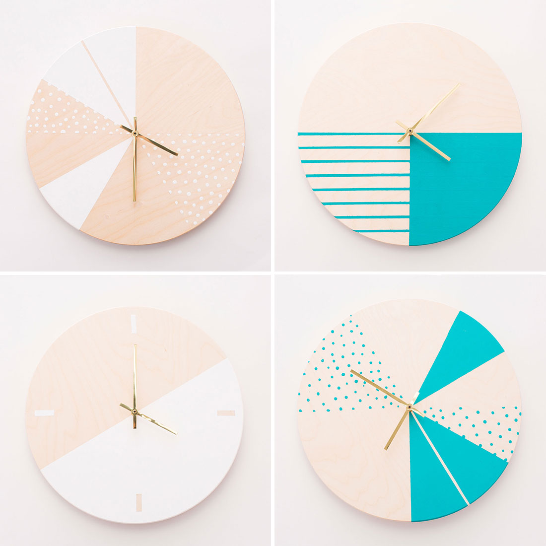 Moden colorful wall clock