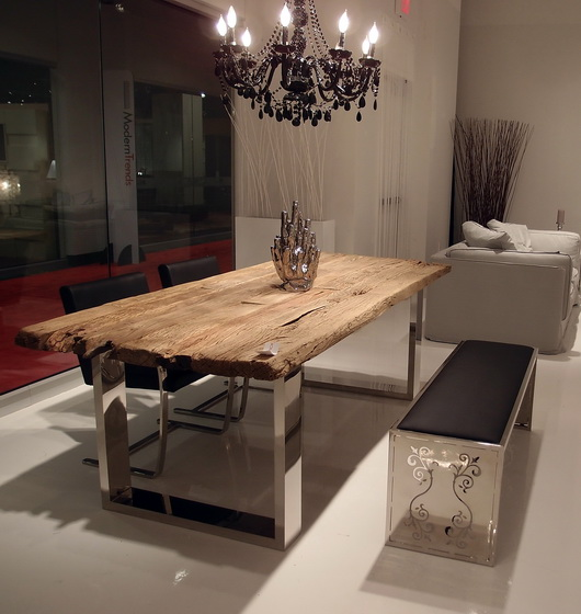 Modern dining furniture at the las vegas world market for Modern home decor market