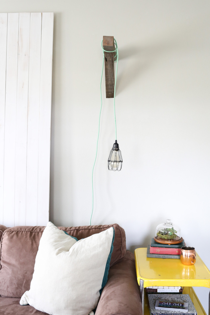 Modern farmhouse reading lamp