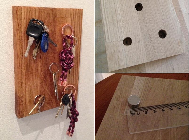 Modern magnetic keyholder