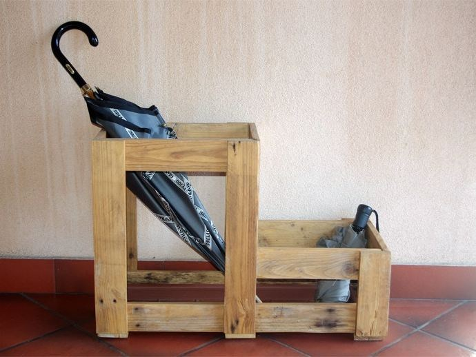 Odense reclaimed wood umbrella stand