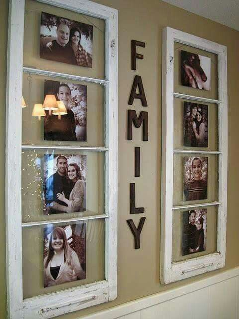 Old windows turbed into frames