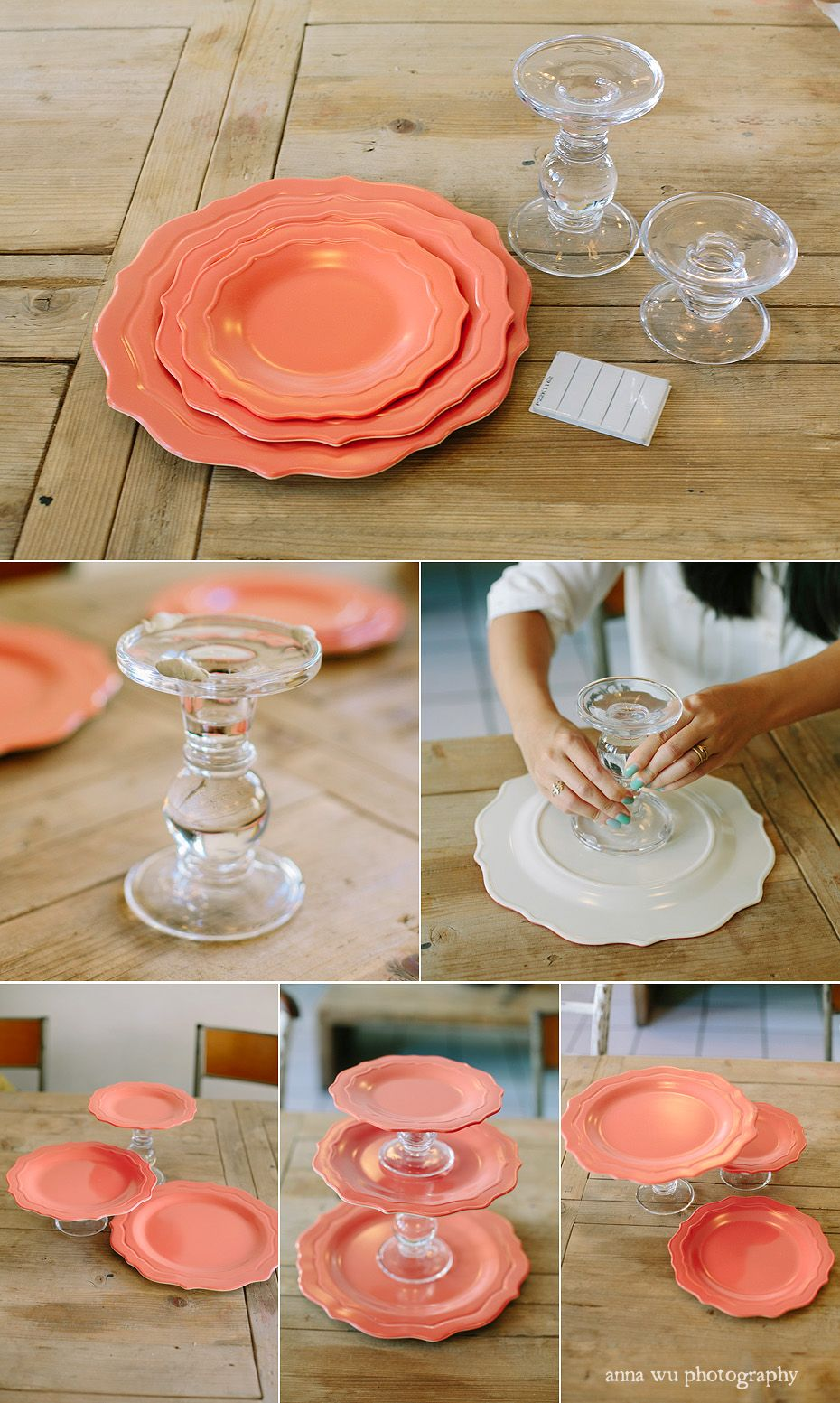 Plates cake stand DIY