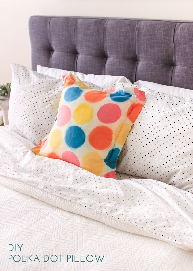 Polka dot pillow