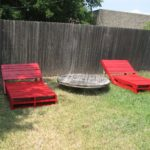 Pool chairs from pallets