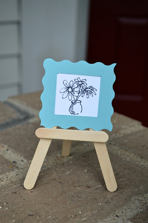 Popsicle Stick Picture Stand