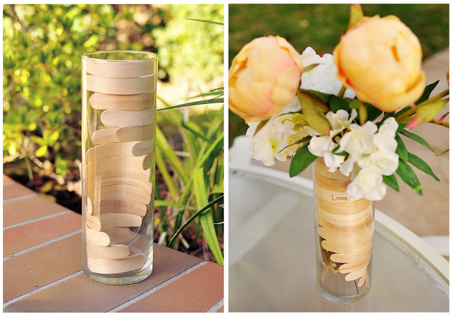 Popsicle Sticks for a Wooden Helix Vase
