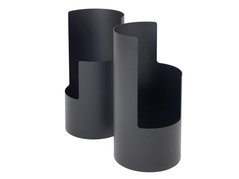 Powder coated steel umbrella stand