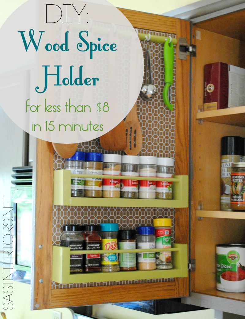 Spice Rack On A Drawer Door
