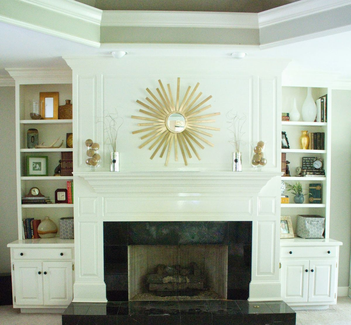 fireplace ideas design above photo excellent decorating mantel mirror