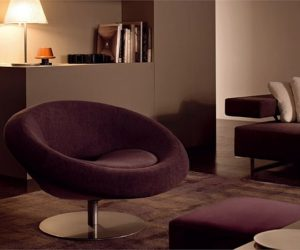 Cozy Moon swivel chair by arketipo