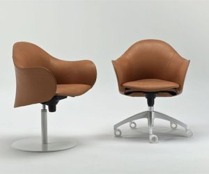 Stylish Swivel Lopod Armchair with Armrests
