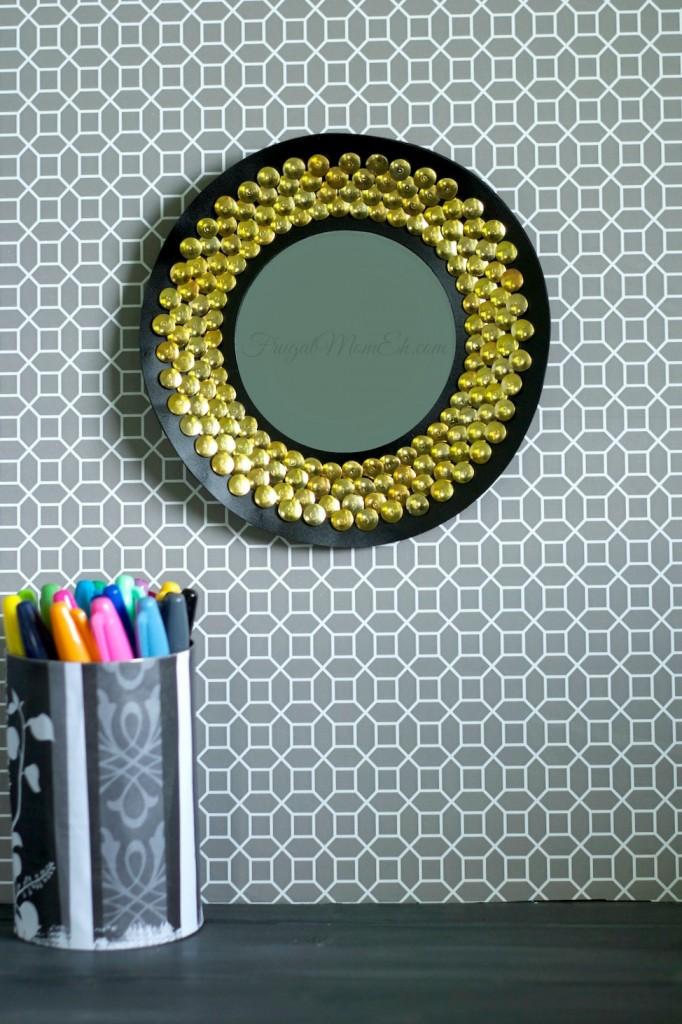 Thrifty chic sunburst mirror