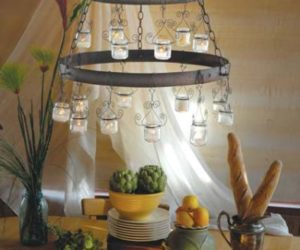 Great DIY Baby Food Chandelier