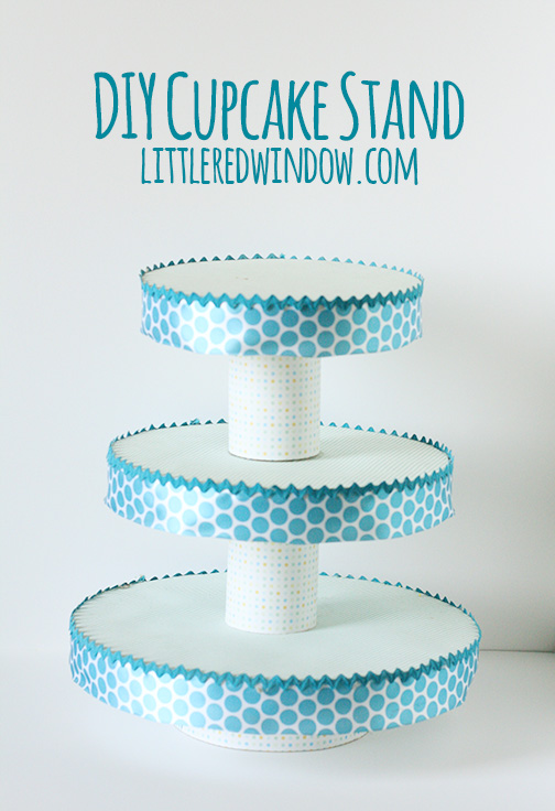Turquoise cupcake stand design