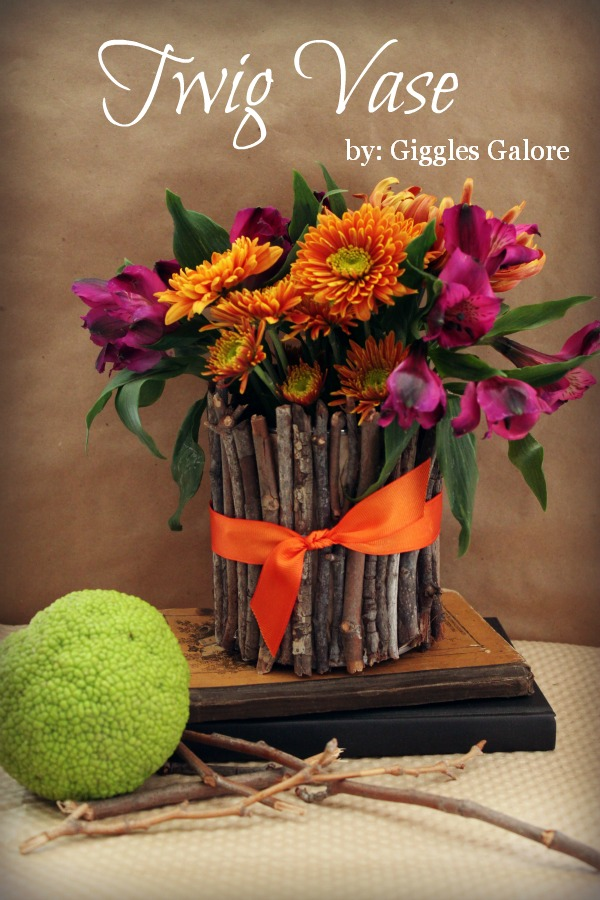 Twig vase for flowers