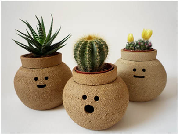 Great Hairy Babes   Funny Ceramics Plant Pots