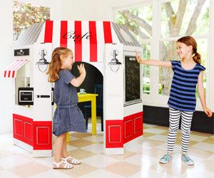 Kids Cafe Made of Cardboard