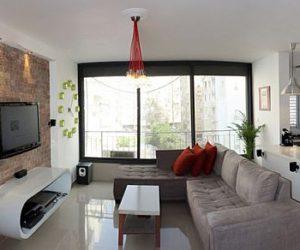 Creative first apartment design in Tel Aviv Israel