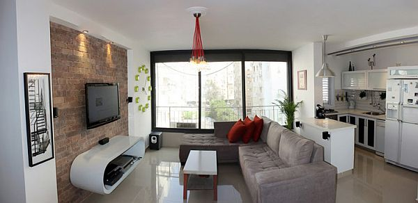 Creative first apartment design in tel aviv israel for 15x15 living room