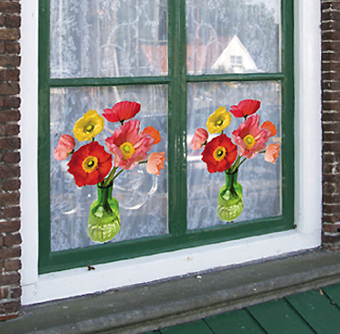 Flat Flowers For Decorating Your Windows Images