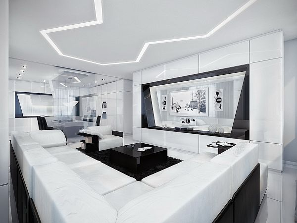 Another Black And White Apartment By Geometrix