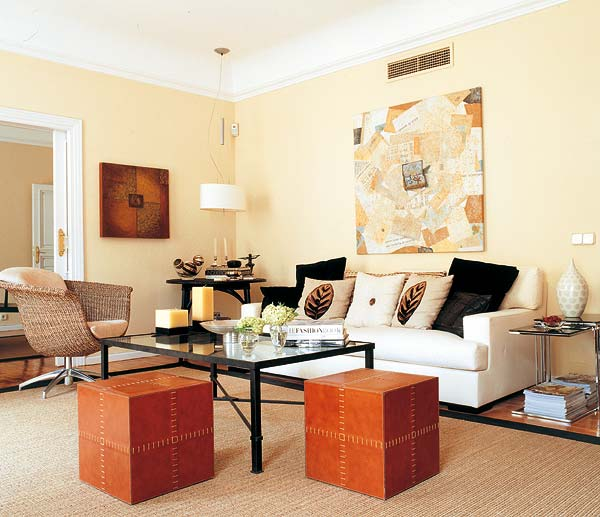 an unforgettable beige apartment in madrid