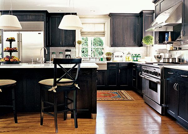 Black kitchen design ideas for Kitchen designs black