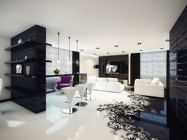 Splash Of Color In A Black White Environment - Creative-side-system-for-fans-of-a-fashionable-black-and-white-color-theme-by-fimar
