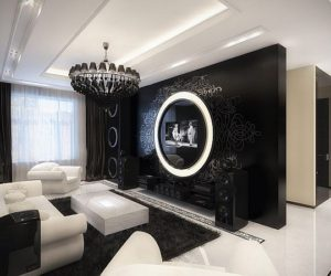 The Uniqueness of a Black And White Modern-Baroque Apartment