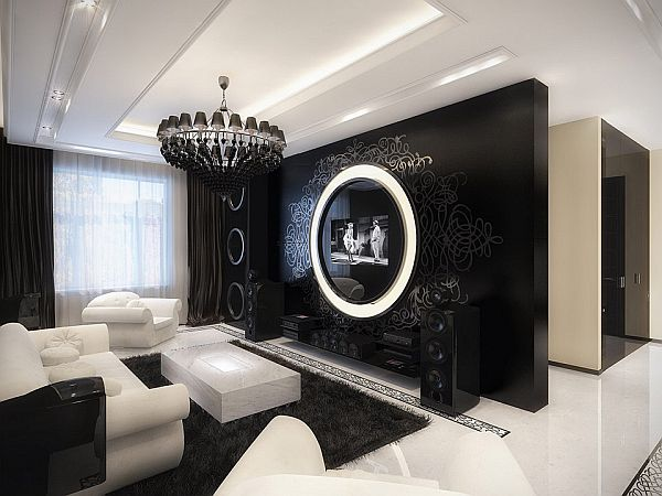 The Uniqueness Of A Black And White Modern Baroque Apartment