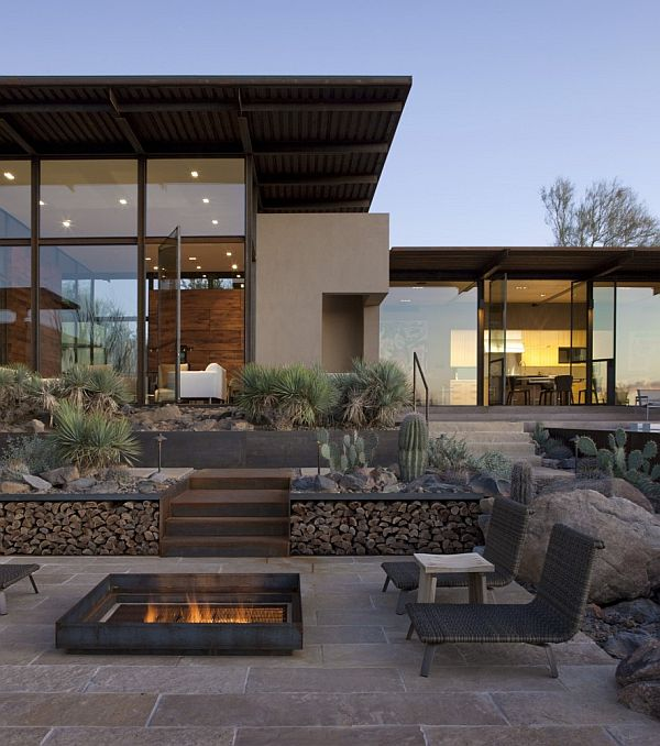 The Brown Residence A Combination Between Glasssteel - Guirey-residence-arizona-architecture-classic