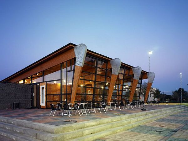 Nice tvn tennis park clubhouse by ag nova architects House plans for golf course lots