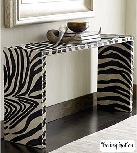 Elegant DIY Zebra Console Table
