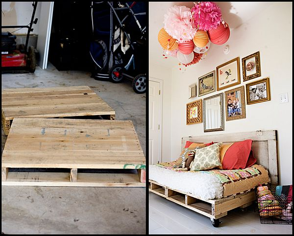 DIY daybed chair from pallets
