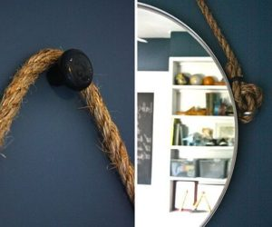 DIY Hanging Rope Shelf · DIY Rope Mirror