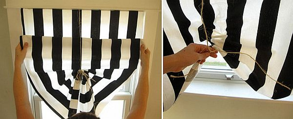 Diy Black And White Curtains 1 2