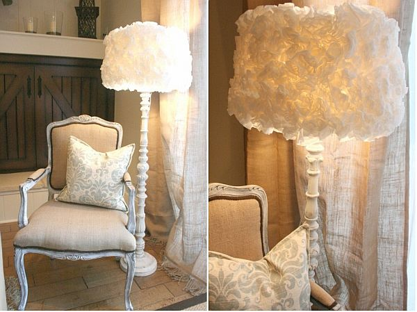 Fluffy diy coffee filter lamp shade mozeypictures Image collections