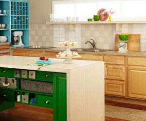 Nice DIY Colorful Kitchen Island