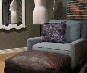 Luxurious DIY Leather Ottoman