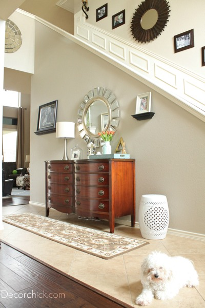dresser into the entrance hallway or foyer