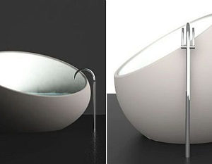 Unconventional Eggshell Bathtub by Toby Nowland