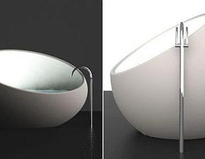 Elegant Unconventional Eggshell Bathtub By Toby Nowland