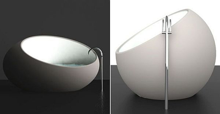 Unconventional Eggshell Bathtub by Toby Nowland