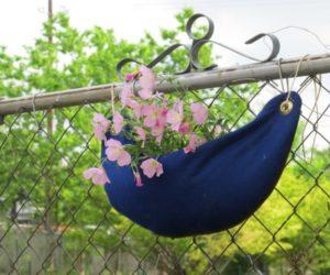 Interesting DIY Hanging Felt Planter