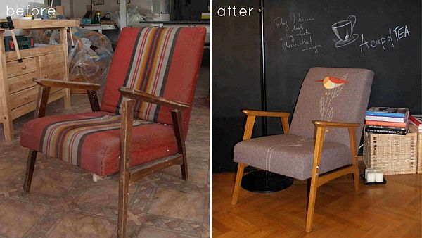 Magnificent 28 Before After Reupholstered Chairs Download Free Architecture Designs Grimeyleaguecom