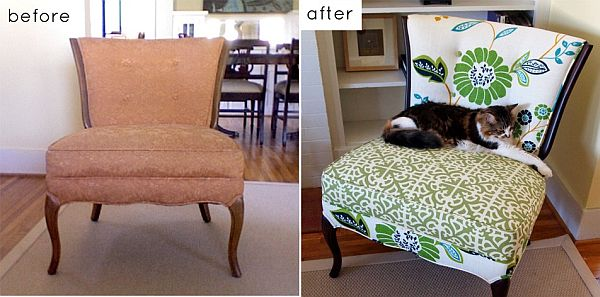 Jessica and Susan reupholstered chair. View in gallery - 28 Before-After Reupholstered Chairs