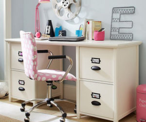 Vertical Metal File Cabinet · Simple And Functional Chantal File Desk